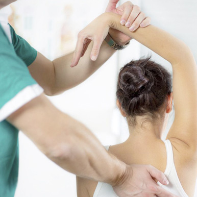 Women receiving Physiotherapy
